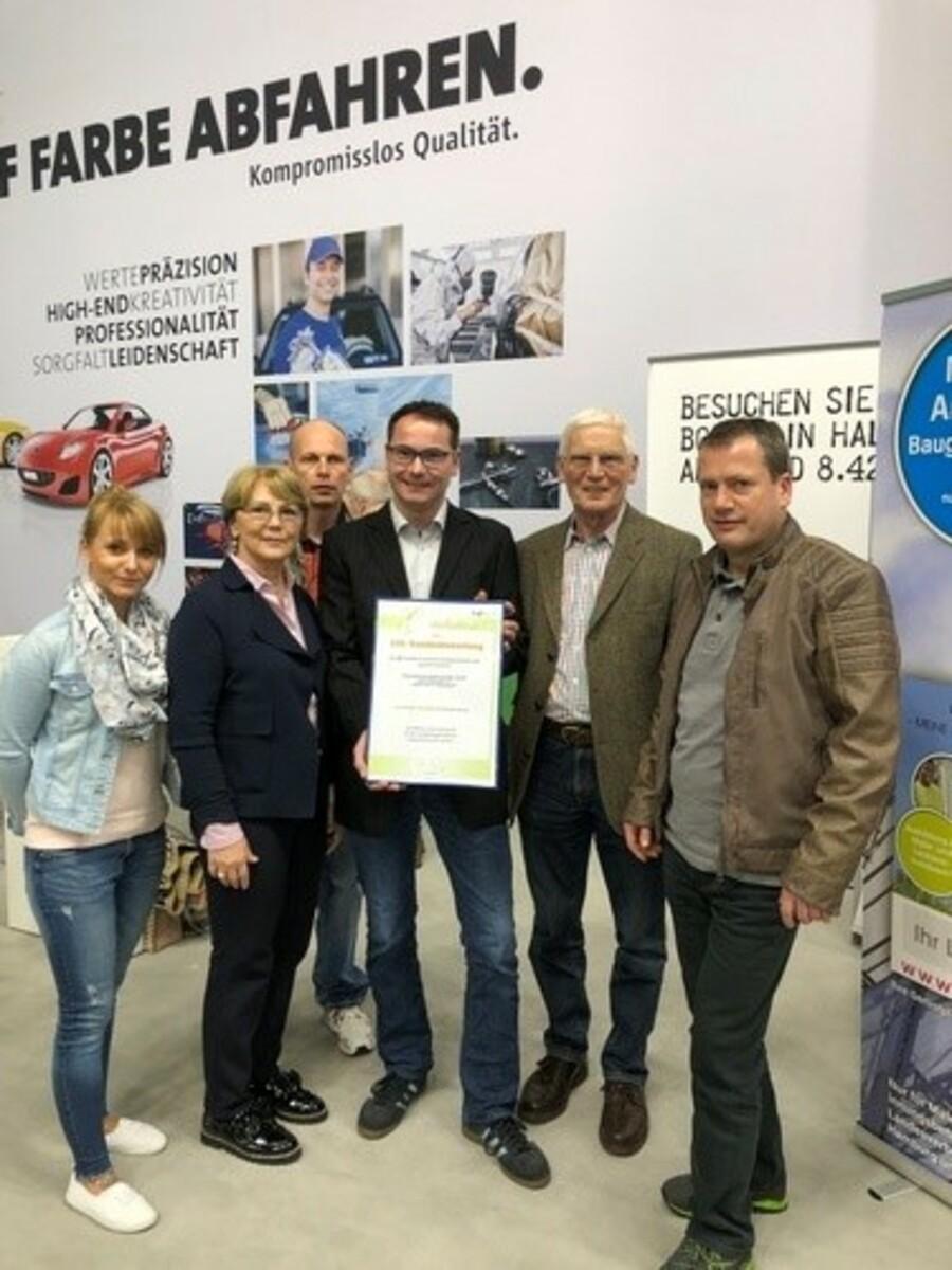 Qualität setzt sich durch: Auszeichnung auf der FAF, der europäischen Leitmesse des Maler- und Lackiererhandwerk