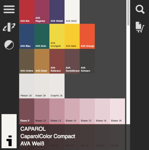 Jetzt online: Farbtonkollektionen von Caparol
