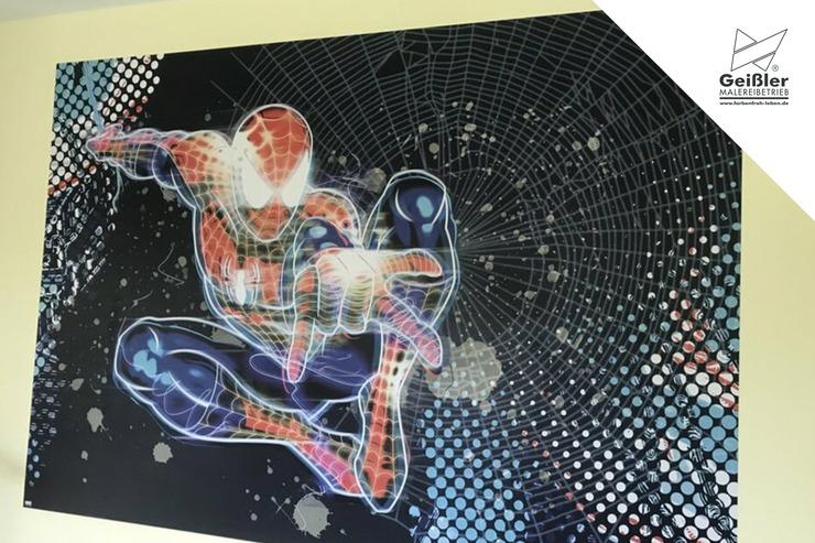 Kindgerechte Gestaltung in Kinderzimmer, Kindertageseinrichtung oder Grundschule - Wunschmotive als Tapete - Spidermanmotiv