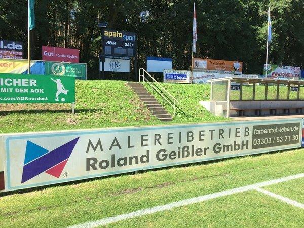 Bandenwerbung Sportplatz Hohen Neuendorf