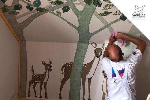 Bambis neues zu Hause...hochwertige Malerarbeiten im Neubauobjekt
