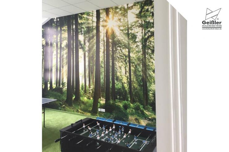 Kindgerechte Gestaltung in Kinderzimmer, Kindertageseinrichtung oder Grundschule - Wunschmotive als Tapete - Waldmotiv